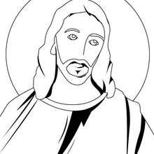 Desenho do Senho Jesus Cristo para colorir