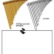 Desenho de uma Flauta de pã para colorir