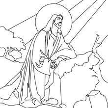 Desenho da Ascensão de Jesus para colorir