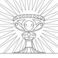 Desenho do cálice sagrado para colorir