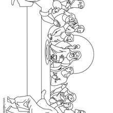Desenho da Última Ceia para colorir