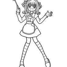 Desenho da sereia Lucia para colorir