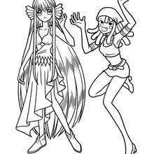 Desenho da Maria com a Eriru para colorir