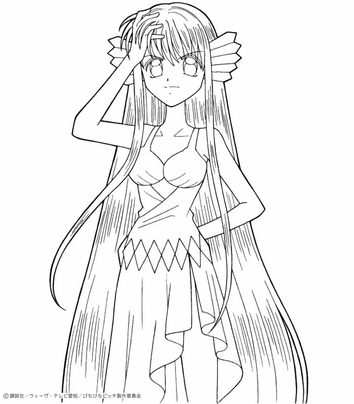 mermaid melody free coloring pages - photo#35