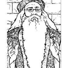 Desenho do Alvo Dumbledore para colorir