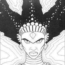 Colorindo a feiticeira Karabá com ataque de ira