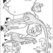 Desenho dos amigos do Alex para colorir