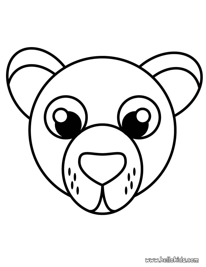 Desenhos Para Colorir De Desenho Da Cabeca De Um Urso Para Colorir