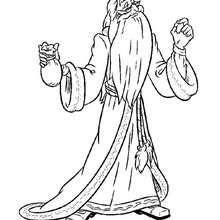 Desenho do Dumbledore para colorir