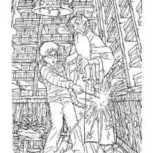 Desenho do Alvo Dumbledore e do Harry Potter para colorir