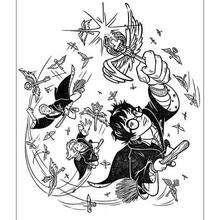 Desenho do Ron voando para colorir