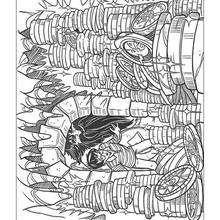 Desenho do Harry Potter com o tesouro para colorir