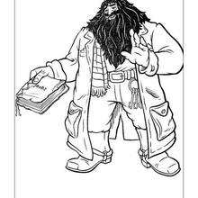 Desenho do Rúbeo Hagrid para colorir