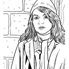 Desenho da Hermione Granger para colorir