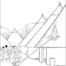 O vilarejo de Kiriku : para colorir