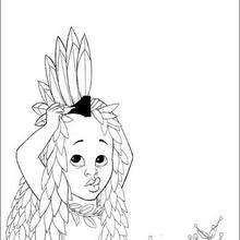 Colorindo Kiriku e sua fantasia