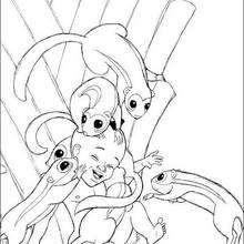 Kiriku brincando com os animais