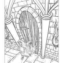 Desenho do Ron com sua capa invisível para colorir