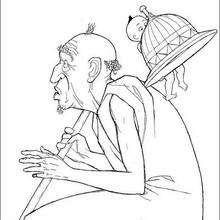 Colorindo Kirikou e o homem velho