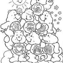 Desenho dos Ursinhos Carinhosos juntos para colorir