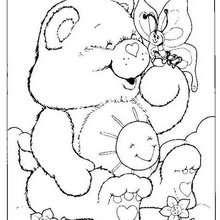 Desenho da Animadinha com uma borboleta para colorir
