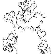 Desenho dos Ursinhos Carinhosos voando para colorir