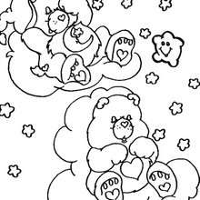Desenho dos Ursinhos Carinhosos dormindo para colorir