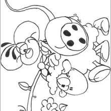 Diddl e a ovelha para colorir
