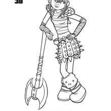 Desenho da Astrid para colorir