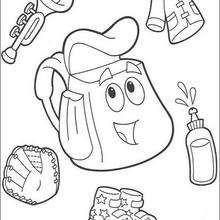 Desenho da Mochila da Dora para colorir