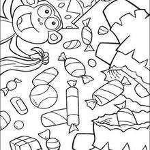 Desenho Botas com docinhos para colorir