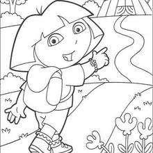 Desenho da Dora e do circo para colorir