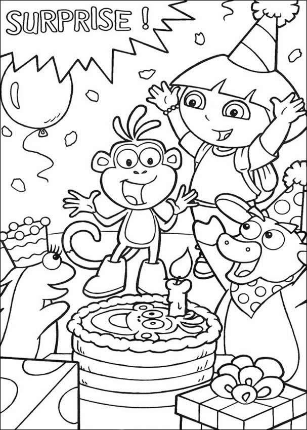 Desenhos Para Colorir De Feliz Aniversario Botas Pt Hellokids Com