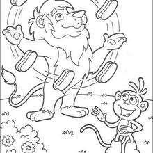 Desenho do malabarista para colorir