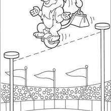 Desenho do Leão, o acrobata para colorir