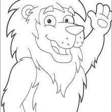 Desenho do Leão, o rei da Selva para colorir