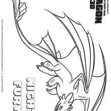 Desenho do dragão Banguela para colorir