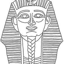 Desenho de um Faraó para colorir
