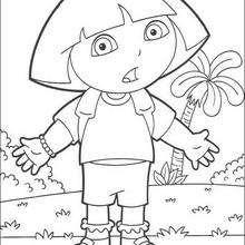 Desenho da Dora, a Aventureira surpresa para colorir