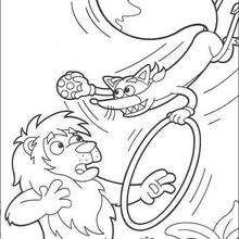 Desenho do Raposo, o acrobata para colorir