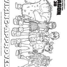 Desenho do Grupo dos Vikings para colorir
