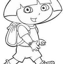 Desenho da Dora, a Aventureira para colorir