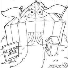 Desenho do circo para colorir