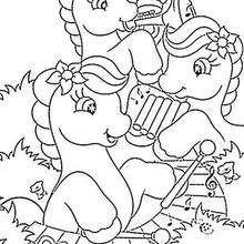 A orquestra dos pôneis, para colorir