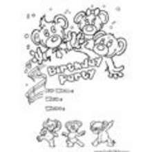 aniversário, CONVITES DE ANIVERSÁRIO para colorir