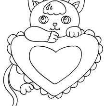 Desenhos Para Colorir De Desenho De Um Gatinho Kawaii Para Colorir