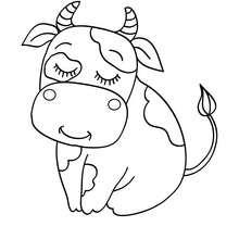 Uma vaca para colorir