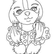 Desenho de um cachorro de madame para colorir