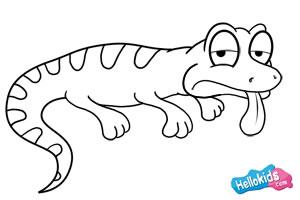 Como desenhar um lagarto