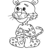 Desenho para colorir de um Leopardo